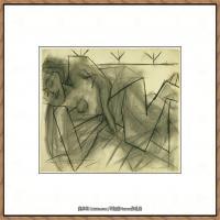 西班牙画家巴勃罗毕加索Pablo Picasso现代派素描毕加索手稿高清图片毕加索素描作品 (172)