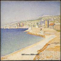 保罗西涅克Paul Signac法国新印象派点彩派大师西涅克绘画作品集The Jetty at Cassis, Opus