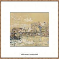 保罗西涅克Paul Signac法国新印象派点彩派大师西涅克绘画作品集La Seine au Ponts des Art