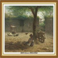 19世纪法国巴比松派画家让弗朗索瓦米勒Jean Francois Millet绘画作品集现实主义画家米勒 (24)