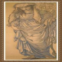 英国新拉斐尔前派画家插画家爱德华伯恩琼斯EdwardBurneJones素描速写手稿作品高清图片插画作品集 (33)