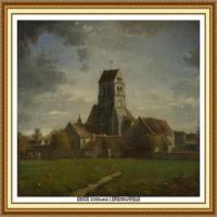 19世纪法国巴比松派画家让弗朗索瓦米勒Jean Francois Millet绘画作品集现实主义画家米勒 (51)