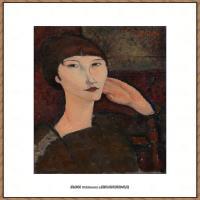 阿梅代奥莫迪利亚尼Amedeo Modigliani意大利著名画家绘画作品集油画作品高清图片Adrienne (Woma
