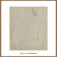 阿梅代奥莫迪利亚尼Amedeo Modigliani意大利著名画家绘画作品集手稿素描作品高清图片LES DEUX ORP