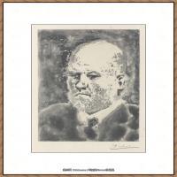 西班牙画家巴勃罗毕加索Pablo Picasso现代派素描毕加索手稿高清图片毕加索素描作品 (148)