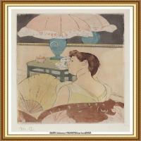 19世纪著名美国印象派女画家玛丽卡萨特Mary Cassatt绘画作品集油画作品高清图片 (81)