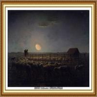 19世纪法国巴比松派画家让弗朗索瓦米勒Jean Francois Millet绘画作品集现实主义画家米勒 (52)