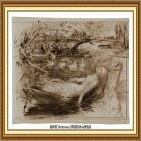 十九世纪英国画家约翰埃弗里特米莱斯John Everett Millais拉斐尔前派画家素描速写 (1)
