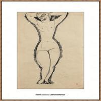 阿梅代奥莫迪利亚尼Amedeo Modigliani意大利著名画家绘画作品集手稿素描作品高清图片NU DE FACE,