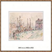 保罗西涅克Paul Signac法国新印象派点彩派大师西涅克绘画作品集Venice (French, Paris 186