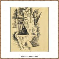 西班牙画家巴勃罗毕加索Pablo Picasso现代派素描毕加索手稿高清图片毕加索素描作品 (169)