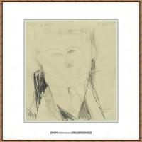 阿梅代奥莫迪利亚尼Amedeo Modigliani意大利著名画家绘画作品集手稿素描作品高清图片Paul Guillau