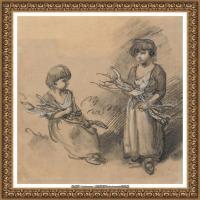 英国画家托马斯庚斯博罗Thomas Gainsborough肖像画风景画素描速写作品高清图片 (33)