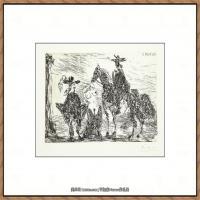 西班牙画家巴勃罗毕加索Pablo Picasso现代派素描毕加索手稿高清图片毕加索素描作品 (3)