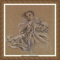 英国新拉斐尔前派画家插画家爱德华伯恩琼斯EdwardBurneJones素描速写手稿作品高清图片插画作品集 (39)
