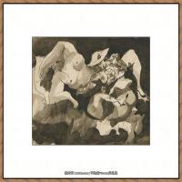西班牙画家巴勃罗毕加索Pablo Picasso现代派素描毕加索手稿高清图片毕加索素描作品 (87)