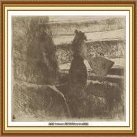 19世纪著名美国印象派女画家玛丽卡萨特Mary Cassatt绘画作品集油画作品高清图片 (54)