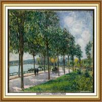 阿尔弗莱德西斯莱Alfred Sisley法国印象派画家世界著名画家风景油画高清图片 (27)