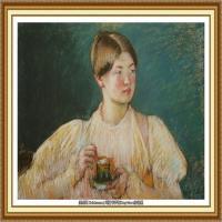19世纪著名美国印象派女画家玛丽卡萨特Mary Cassatt绘画作品集油画作品高清图片 (51)