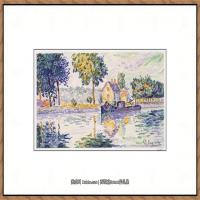 保罗西涅克Paul Signac法国新印象派点彩派大师西涅克绘画作品集View of the Seine, Samois