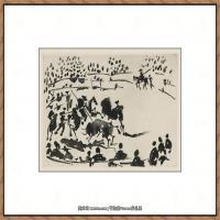 西班牙画家巴勃罗毕加索Pablo Picasso现代派素描毕加索手稿高清图片毕加索素描作品 (147)