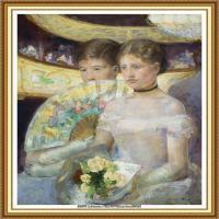 19世纪著名美国印象派女画家玛丽卡萨特Mary Cassatt绘画作品集油画作品高清图片 (80)