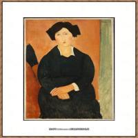 阿梅代奥莫迪利亚尼Amedeo Modigliani意大利著名画家绘画作品集油画作品高清图片The Italian Wo