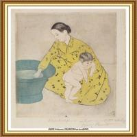 19世纪著名美国印象派女画家玛丽卡萨特Mary Cassatt绘画作品集油画作品高清图片 (83)