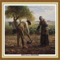19世纪法国巴比松派画家让弗朗索瓦米勒Jean Francois Millet绘画作品集现实主义画家米勒 (54)