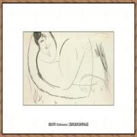 阿梅代奥莫迪利亚尼Amedeo Modigliani意大利著名画家绘画作品集手稿素描作品高清图片NU ALLONGé