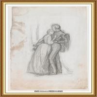 十九世纪英国画家约翰埃弗里特米莱斯John Everett Millais拉斐尔前派画家素描速写 (12)