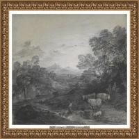 英国画家托马斯庚斯博罗Thomas Gainsborough肖像画风景画素描速写作品高清图片 (36)