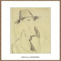 阿梅代奥莫迪利亚尼Amedeo Modigliani意大利著名画家绘画作品集手稿素描作品高清图片Mario the Mu