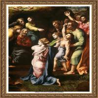 意大利杰出的画家拉斐尔Raphael神将治愈God has healed油画作品高清大图 (52)
