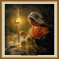 19世纪法国巴比松派画家让弗朗索瓦米勒Jean Francois Millet绘画作品集现实主义画家米勒 (19)
