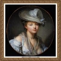 法国洛可可风格画家让巴蒂斯特格勒兹Jean Baptiste Greuze古典人物油画作品图片-The White Ha