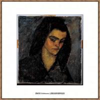 阿梅代奥莫迪利亚尼Amedeo Modigliani意大利著名画家绘画作品集油画作品高清图片Lady with long