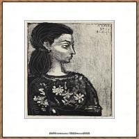 西班牙画家巴勃罗毕加索Pablo Picasso现代派素描毕加索手稿高清图片毕加索素描作品 (114)