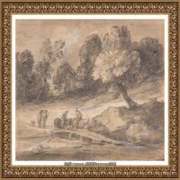 英国画家托马斯庚斯博罗Thomas Gainsborough肖像画风景画素描速写作品高清图片 (25)