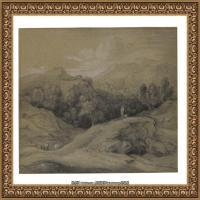 英国画家托马斯庚斯博罗Thomas Gainsborough肖像画风景画素描速写作品高清图片 (13)