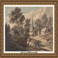 英国画家托马斯庚斯博罗Thomas Gainsborough肖像画风景画素描速写作品高清图片 (11)