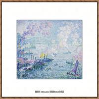 保罗西涅克Paul Signac法国新印象派点彩派大师西涅克绘画作品集The_Port_of_Rotterdam