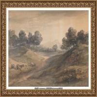 英国画家托马斯庚斯博罗Thomas Gainsborough肖像画风景画素描速写作品高清图片 (32)