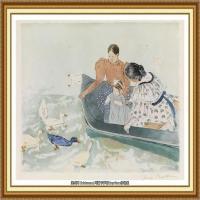 19世纪著名美国印象派女画家玛丽卡萨特Mary Cassatt绘画作品集油画作品高清图片 (100)