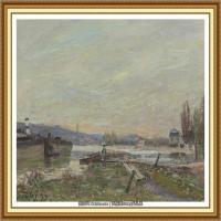 阿尔弗莱德西斯莱Alfred Sisley法国印象派画家世界著名画家风景油画高清图片 (13)