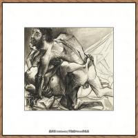 西班牙画家巴勃罗毕加索Pablo Picasso现代派素描毕加索手稿高清图片毕加索素描作品 (91)