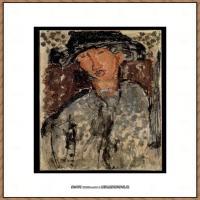 阿梅代奥莫迪利亚尼Amedeo Modigliani意大利著名画家绘画作品集油画作品高清图片Portrait sketc