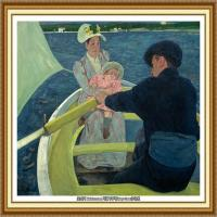 19世纪著名美国印象派女画家玛丽卡萨特Mary Cassatt绘画作品集油画作品高清图片 (94)
