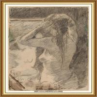 19世纪著名美国印象派女画家玛丽卡萨特Mary Cassatt绘画作品集油画作品高清图片 (71)