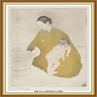 19世纪著名美国印象派女画家玛丽卡萨特Mary Cassatt绘画作品集油画作品高清图片 (75)